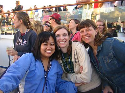 Jackie, Jen and Sherri on the Lido Deck.