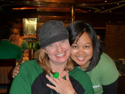 Photo courtesy of Res Jackson - Res and Jackie dressed for the St. Patrick's theme.