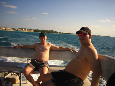 Dan and Andrew during the Snorkel Adventure with Sharks.