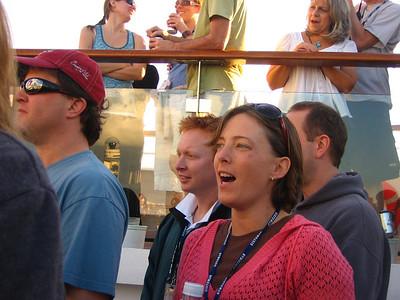 Dan and Lisa on the Lido Deck.