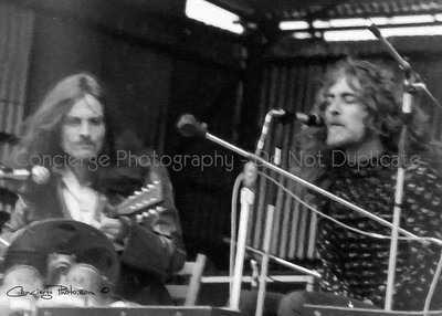 Robert Plant & John Paul Jones | Led Zeppelin @ Bath Festival UK 6-28-1970.  This was so damaged I did the best I can to save it and then converted to a Oil Painting to remove the grain.  Actually now a nice artistic piece for Zep fans.