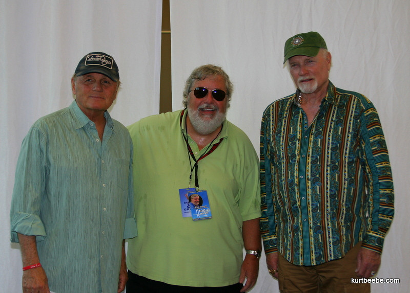 Bruce Johnson (left) and Mike Love (Right) of the Beach Boys with Mike Bennett of 100.7 WHUD (Mike and Kacey in the Morning)