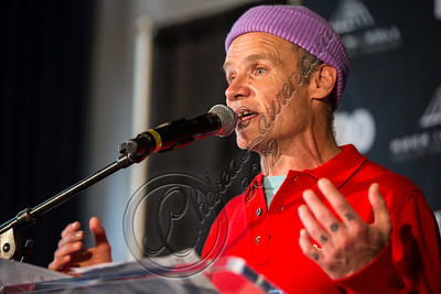 LOS ANGELES, CA - DECEMBER 11:  Bassist Flea of The Red Hot Chili Peppers attends the Rock & Roll Hall of Fame 2013 Inductee Press Conference at Nokia Theatre L.A. Live on December 11, 2012 in Los Angeles, California.  (Photo by Chelsea Lauren/WireImage)
