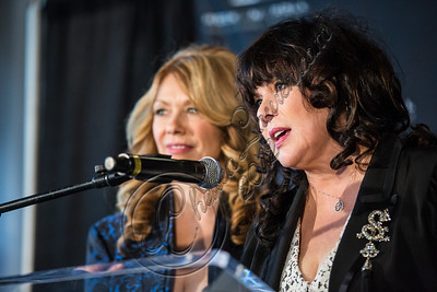 LOS ANGELES, CA - DECEMBER 11:  Musicians Nancy Wilson (L) and Ann Wilson of Heart attend the Rock & Roll Hall of Fame 2013 Inductee Press Conference at Nokia Theatre L.A. Live on December 11, 2012 in Los Angeles, California.  (Photo by Chelsea Lauren/WireImage)
