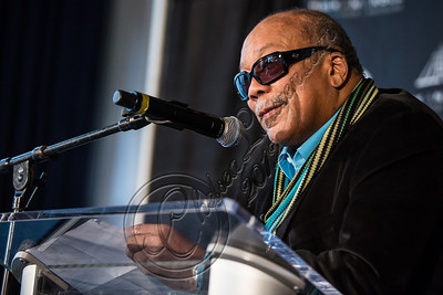 LOS ANGELES, CA - DECEMBER 11:  Producer Quincy Jones attends the Rock & Roll Hall of Fame 2013 Inductee Press Conference at Nokia Theatre L.A. Live on December 11, 2012 in Los Angeles, California.  (Photo by Chelsea Lauren/WireImage)