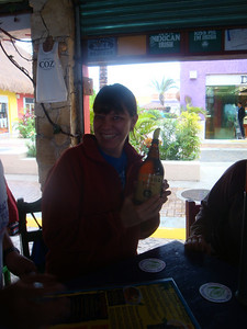 Sherri, who rejected the baby Corona's, received this gigantic bottle instead.