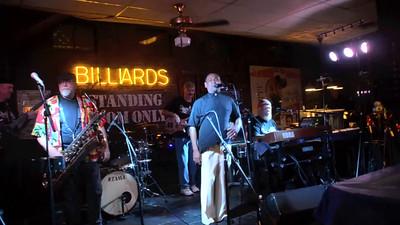 VIDEO:  Dilworth Billiards final jam - 4-23-15  - SRO & Donald Caesar & Bob DeLano (on sax) Charlotte, NC