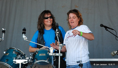 Tracey Lee and Bonnie Crosby - both drummers!