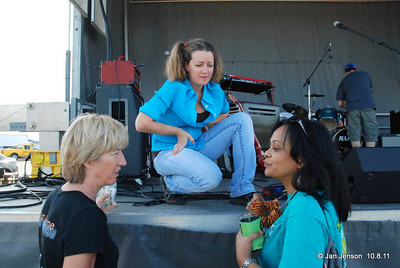 Amy Broome chats with fans after her concert.