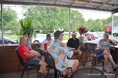 "Bob and ""the guys"" enjoying Tony Rogers & Stella Whittle @ Beantown in Matthews, NC - July 6, 2014"