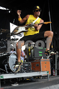 Musician- KALEO WASSMAN guitar and vocals of the band PEPPER performing live at the Van's Warped Tour 2011 in Ventura, CA.  Credit Image:  cr  Scott Mitchell/ZUMA PRESS