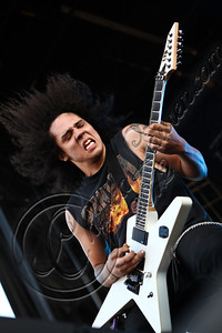 COLUMBUS, OH - MAY 18:  Guitarist Austin Diaz of Black Tide performs during the 2012 Rock On The Range festival at Crew Stadium on May 18, 2012 in Columbus, Ohio.  (Photo by Chelsea Lauren/FilmMagic)