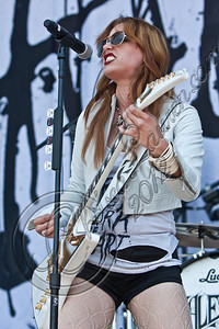 COLUMBUS, OH - MAY 19:  Vocalist Lzzy Hale of Halestorm performs during the 2012 Rock On The Range festival at Crew Stadium on May 19, 2012 in Columbus, Ohio.  (Photo by Chelsea Lauren/FilmMagic)