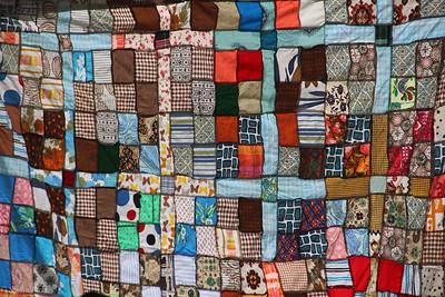 Neighbor's quilt tapestry