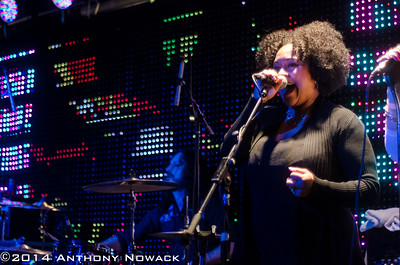 """Karisa Wilson adds backing vocals at the CD release party for """"Truth Will Set You Free"""". Pyramid Scheme 11-15-14"""
