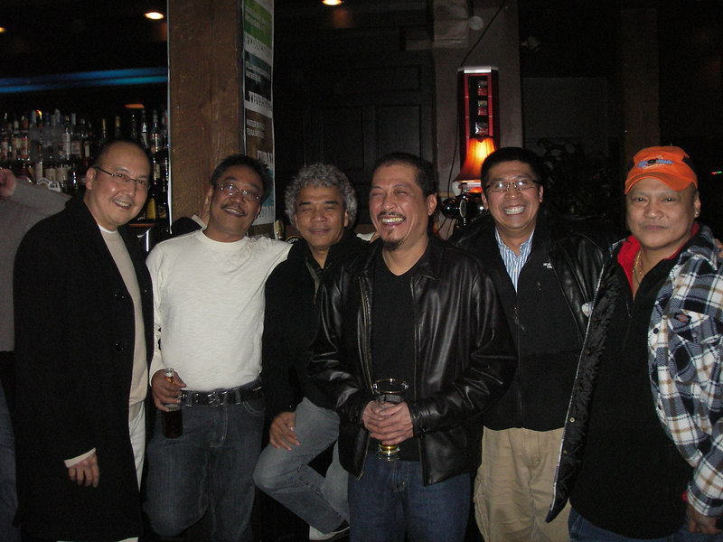 Great friends, and band mates. Dec 2006. After 30 years, most of us got together at Granville Island, Vancouver.