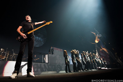 """Roger Waters performs with a group of schoolchildren during his """"The Wall Live"""" tour on November 16, 2010 at St. Pete Times Forum in Tampa, Florida"""