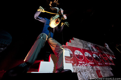 """""""The Schoolmaster"""" appears during Roger Waters' """"The Wall Live"""" tour on November 16, 2010 at St. Pete Times Forum in Tampa, Florida"""