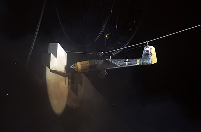 I missed this photo It was taken by the San Jose Mercury news photographer. A stage prop plane crashes into a 40 foot high wall during Roger Waters' The Wall Live Tour concert at AT&T Park in San Francisco, Calif., Friday, May 11, 2012. (Anda Chu/Staff)