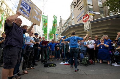 Performing for the Palm Sunday Walk for Refugees on April 13, 2014