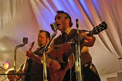 Rockabilly meets Reefer Madness!   The Starline Rhythm Boys . . . Kevin Maul on pedal steel, Big Al Lemery on electric guitar, Danny Coane on acoustic guitar, Billy Bratcher on the upright bass.