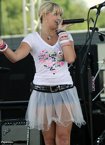 Rydel Lynch performing with pop/rock band R5 at the 30th Annual New Jersey Festival of Ballooning held on July 29, 2012 at Solberg Airport in Whitehouse Station, New Jersey.