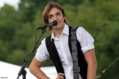 Rocky Lynch performing with pop/rock band R5 at the 30th Annual New Jersey Festival of Ballooning held on July 29, 2012 at Solberg Airport in Whitehouse Station, New Jersey.