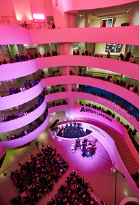 Dec. 15,  2019 - New York, NY   The 2019 Guggenheim Works and Process Rotunda Concert with Roomful of Teeth, Caroline Shaw, and Tigue  Holiday music and a new Works & Process commission of Pulitzer Prize-winning composer Caroline Shaw. Grammy winning eight-voice ensemble Roomful of Teeth and the three percussionists of Tigue perform  Photographer- Robert Altman Post-production- Robert Altman