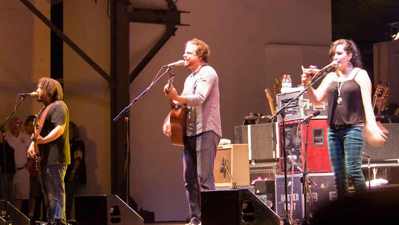 Patrick Norman, Michael Glabicki and Liz Berlin of Rusted Root