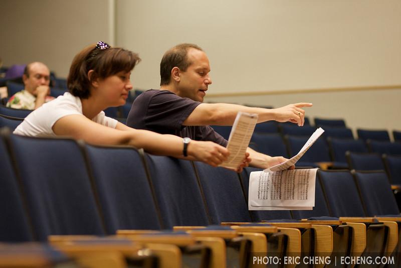 Annalee Patipatanakoon and Chris Costanza coach Monday masterclass