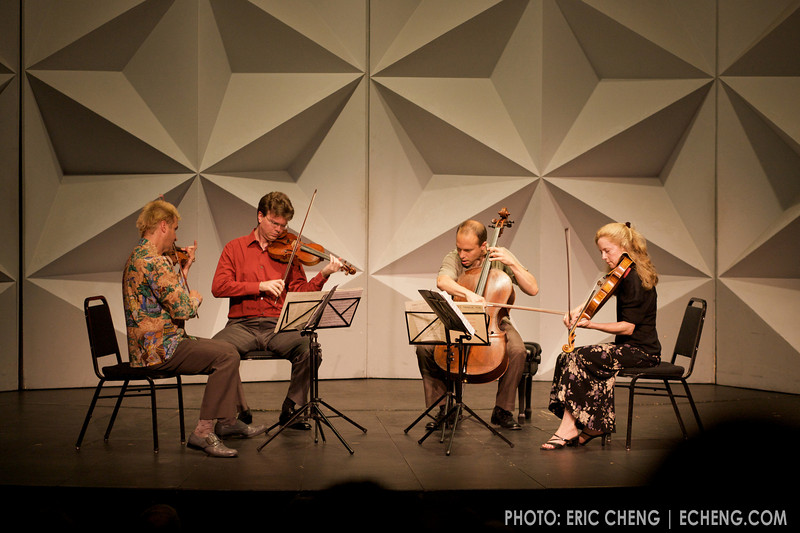 The St. Lawrence String Quartet performs on an Imperial Star Destroyer