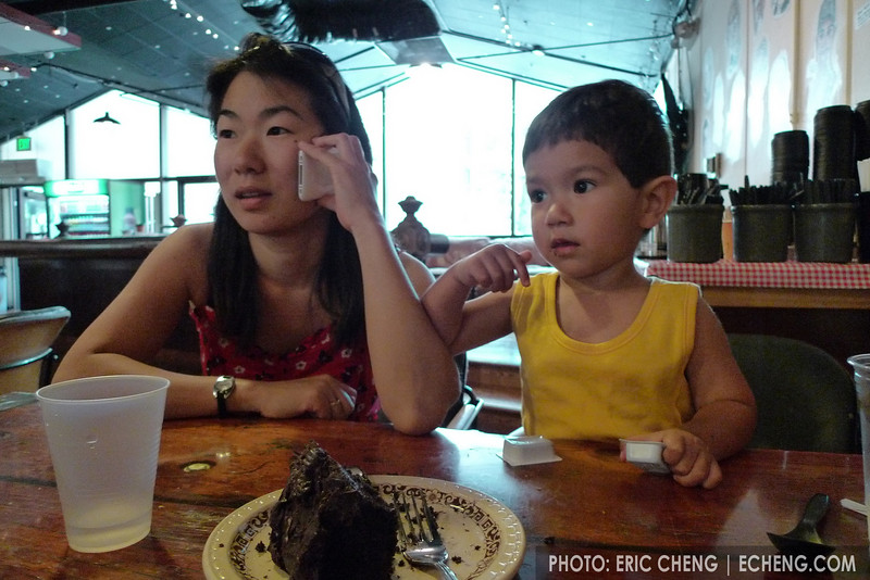 Livia Sohn and son, Jack, at the CoHo (photo: Eric Cheng)