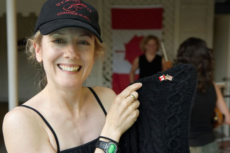 Lesley and Canada pin