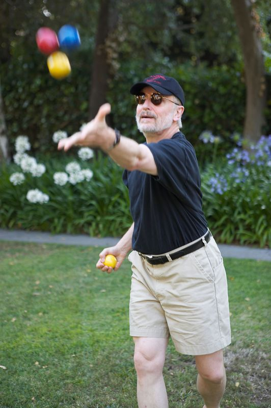 John Lad plays with his balls.