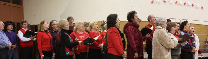 The audience was invited to join in for the Hallelujah Chorus from Handel's Messiah
