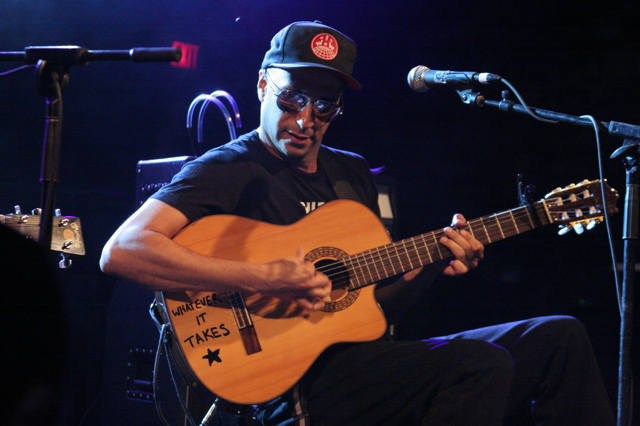 Tom Morello playing the Body of War concert at Stubbs in Austin for SXSW 2008