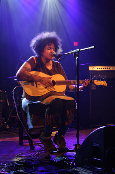 Kimya Dawson playing the Body of War concert at Stubbs in Austin for SXSW 2008