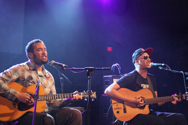 Ben Harper and Tom Morello play the Body of War concert at Stubbs in Austin for SXSW 2008