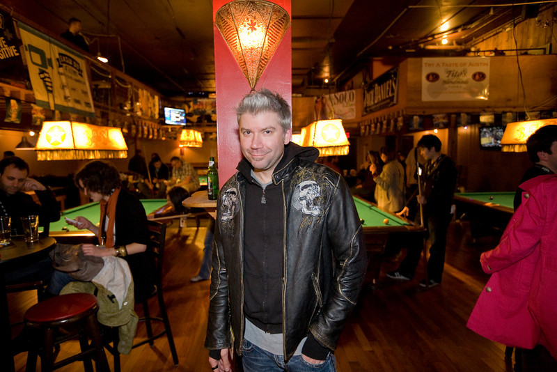 "Chris Gore at the ""I Love You Man"" film party at Buffalo Billiards. SXSW 2009"