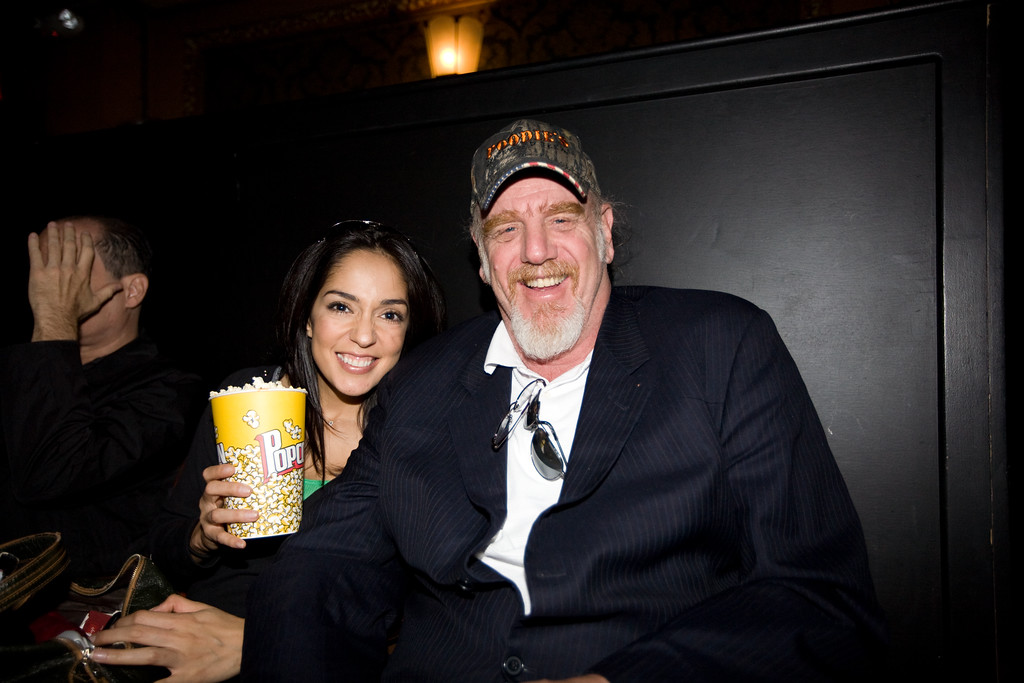 "Michelle Valles and Ray Benson at the Paramount Theatre for the premiere of ""Me and Orson Wells.""<br /> 3/16/2009"