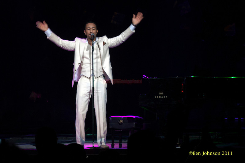John Legend photo -  Performing as part of The Sade Tour 2011 appearing at The Wells Fargo Center in Philadelphia, PA June 19, 2011.