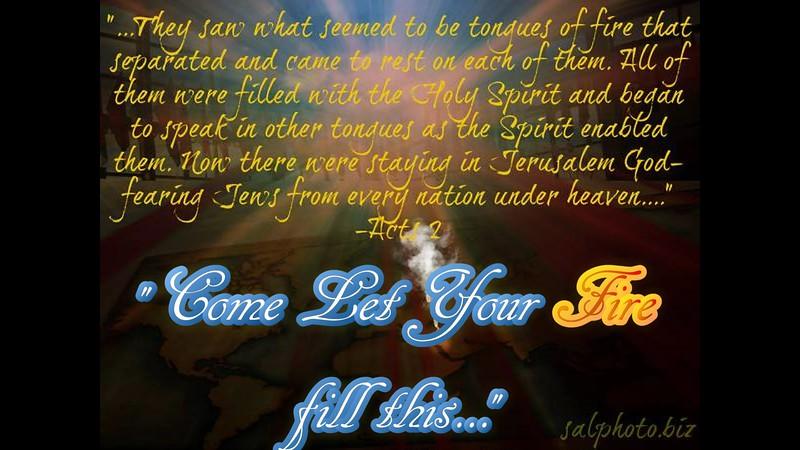 """Come & let your Fire fall in this place...""<br /> <a href=""https://youtu.be/XK1ZbRT9gqM"">https://youtu.be/XK1ZbRT9gqM</a><br /> <br /> <a href=""https://www.biblegateway.com/passage/?search=Acts"">https://www.biblegateway.com/passage/?search=Acts</a>+2<br /> <br /> <a href=""https://creativemusicartsy.wordpress.com/2016/09/25/music-prayer-come-let-your-fire-fall-in-this-place/"">https://creativemusicartsy.wordpress.com/2016/09/25/music-prayer-come-let-your-fire-fall-in-this-place/</a><br /> <br /> <a href=""http://salphotobiz.smugmug.com/Other/Sal-Photo-Videography-Multi/35845676_DFfJ8d#!i=3678694585&k=62mSDtr&lb=1&s=A"">http://salphotobiz.smugmug.com/Other/Sal-Photo-Videography-Multi/35845676_DFfJ8d#!i=3678694585&k=62mSDtr&lb=1&s=A</a>"