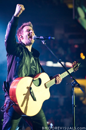 Matt Hammitt of Sanctus Real performs on January 14, 2011 during Winter Jam at Tampa Bay Times Forum in Tampa, Florida