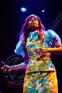 LOS ANGELES, CA - JUNE 01:  Singer Santigold performs at Club Nokia on June 1, 2012 in Los Angeles, California.  (Photo by Chelsea Lauren/WireImage)