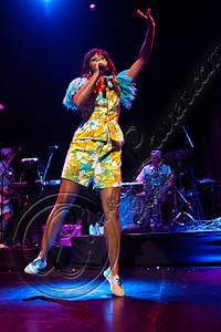 LOS ANGELES, CA - JUNE 01:  Singer Santigold performs at Club Nokia on June 1, 2012 in Los Angeles, California.  (Photo by Chelsea Lauren/WireImage)