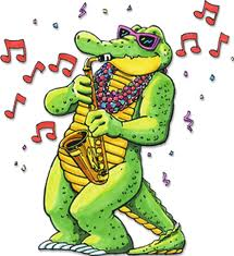 alligator playing sax