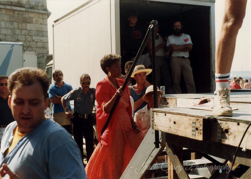 Nancy Wilson (with Newport Patrolman Jimmy Winters) 1989