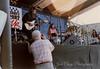 Laura Nyro with Jimmie Vivino, guitar. David Gahr photographer in foreground. - 1998