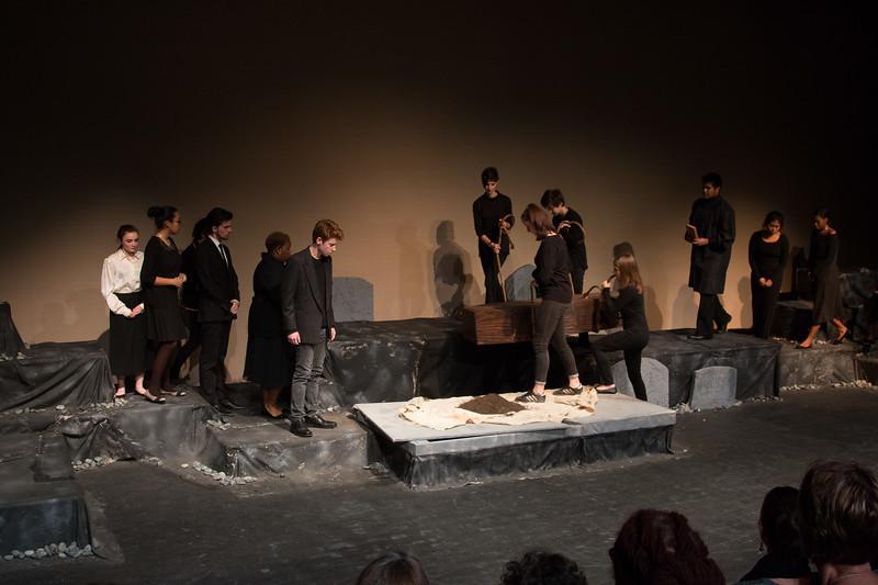 Ophelia's funeral -- Hamlet, Montgomery Blair High School, Silver Spring, MD, November 2016