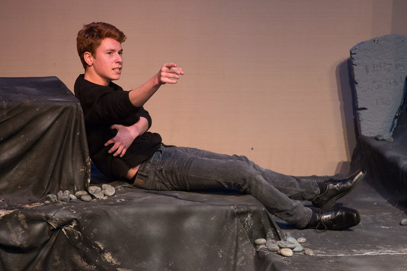 Laertes, mortally wounded -- Hamlet, Montgomery Blair High School, Silver Spring, MD, November 2016
